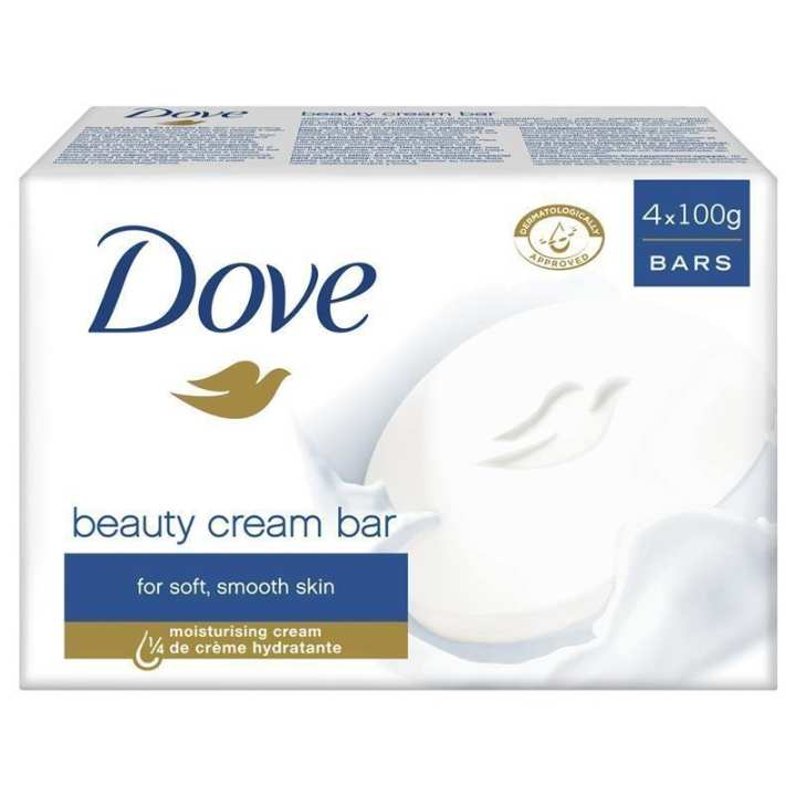 Dove soap pack of 4 (100g)