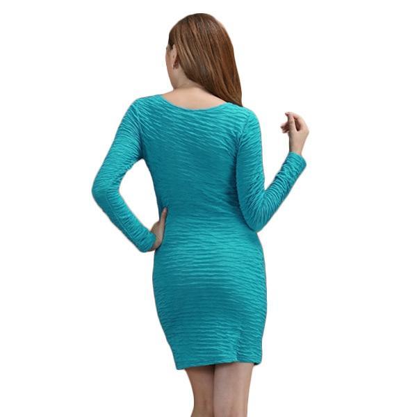 Women's Bodycon Dress - Sky Blue
