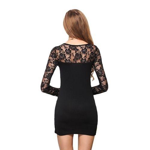 Women's Long Sleeve Mini Lace Dress