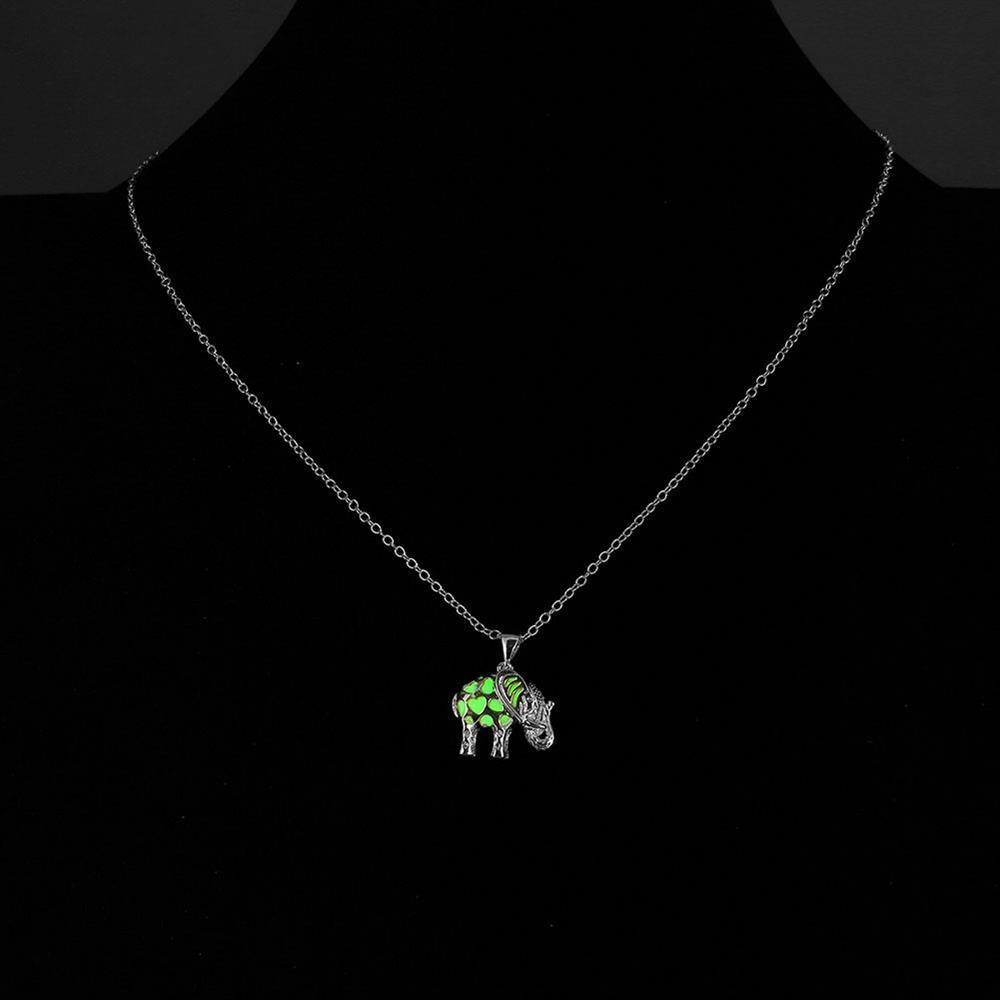 Hollow Elephant Necklace