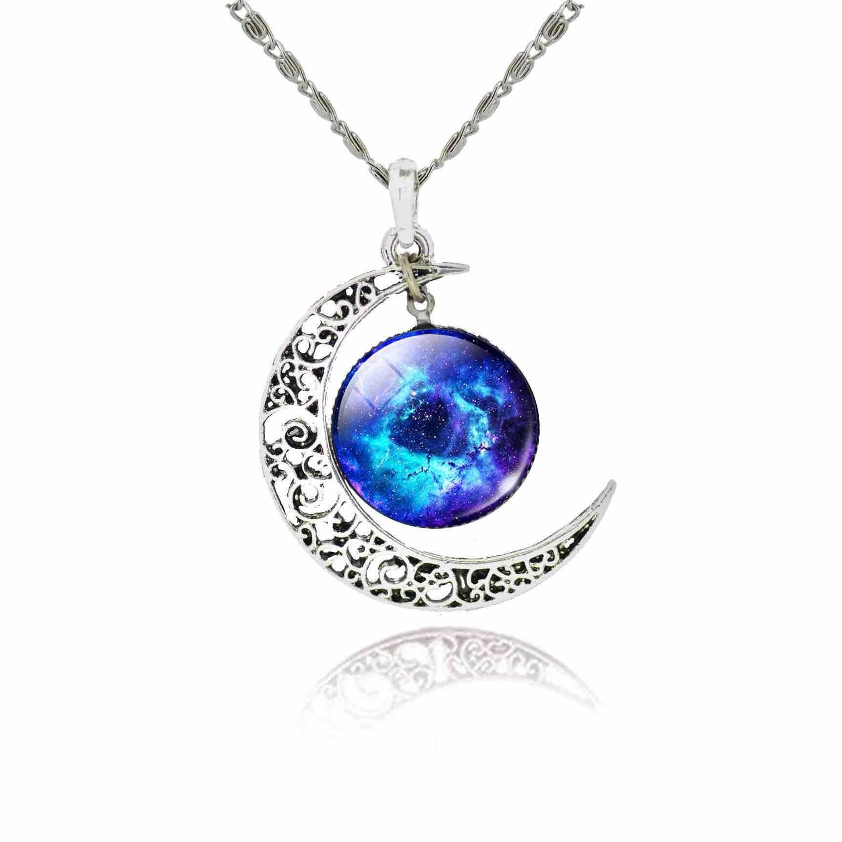 Women's Hollow Moon Necklace