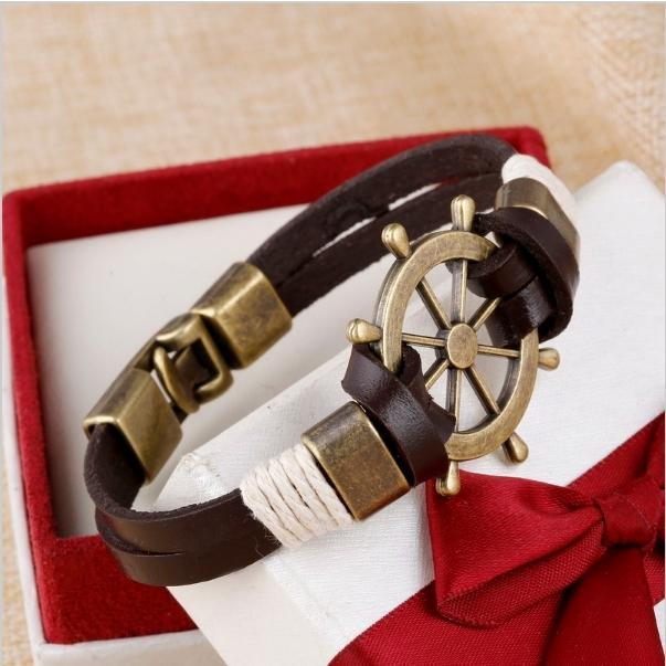 Men's Leather Bracelets - Brown