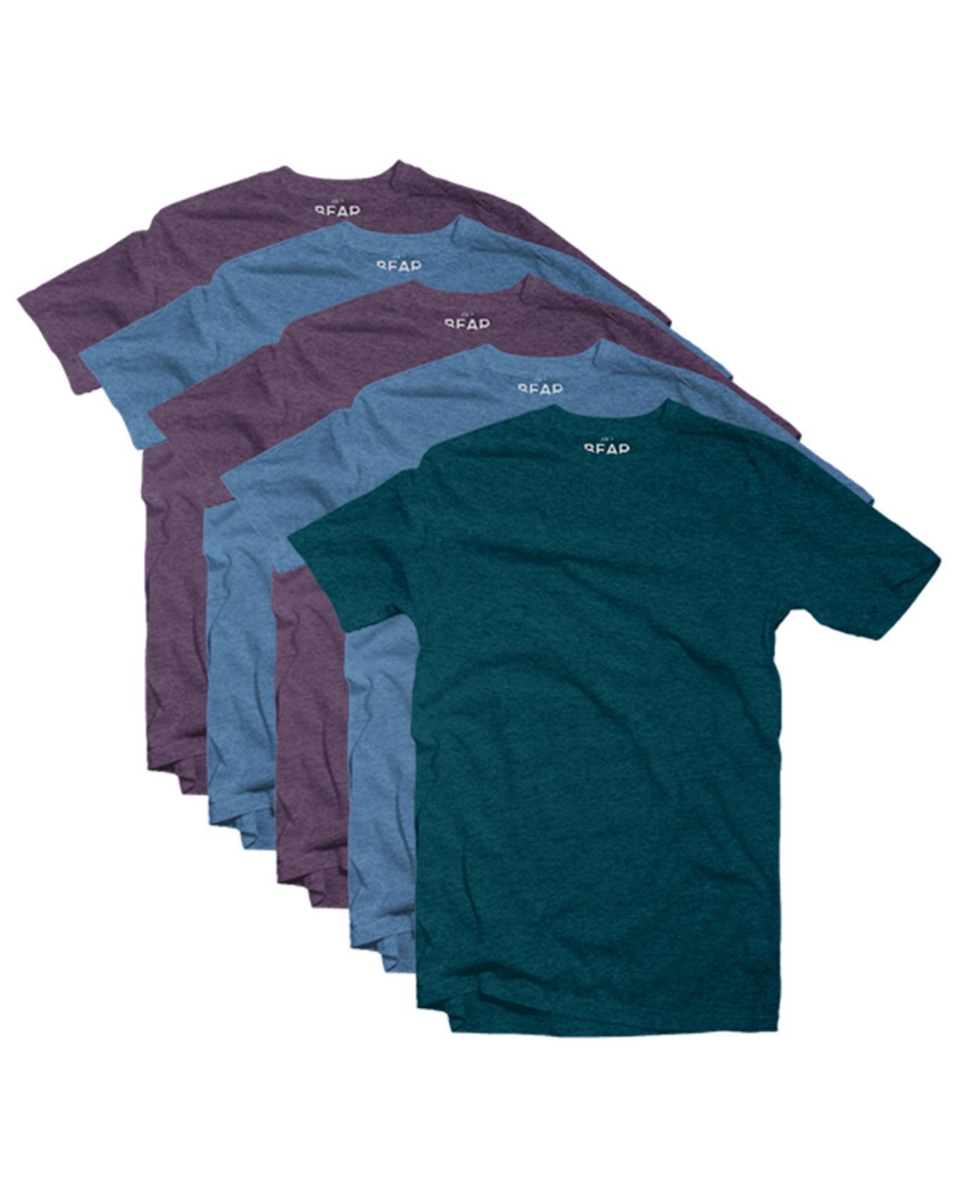 Men's Crew Neck T-shirts - 5 Pack - Tri-blend