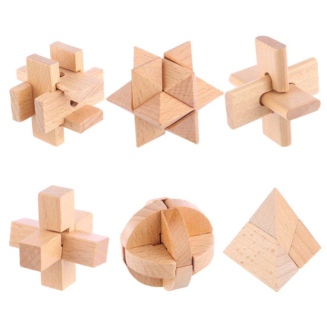 Toys Games Buy At Best Price In Srilanka Circuit Board Components Toddler 6pcs Puzzle Toy Mini Wooden Luban Lock Set Children Development And Educational Wood Color