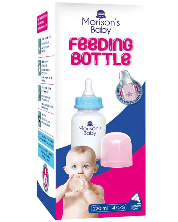 Feeding Bottle Straight Body 120ml - Blue - Small