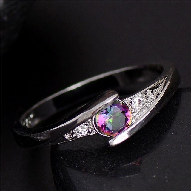 Women's Zircon Silver Plated Ring