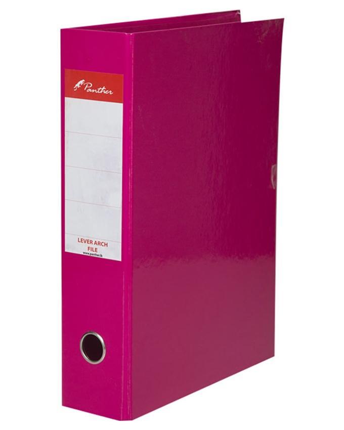 Box File 75mm  Laminated F4 - Dark Pink