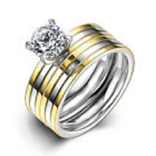 Women's Gold Plated Titanium Steel Ring