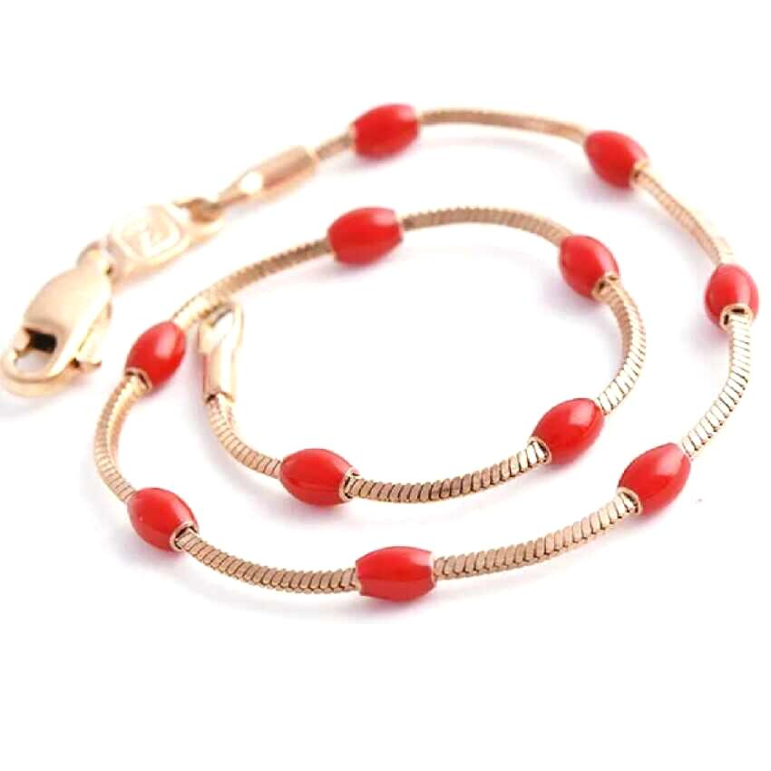 Women's Enamel Bracelet - Red