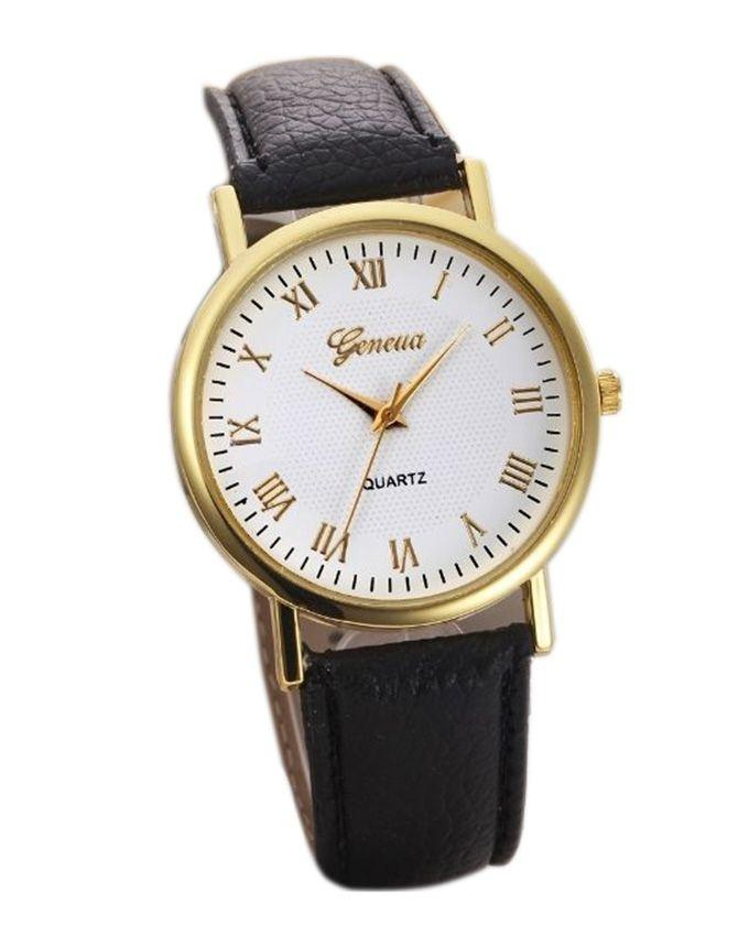 Men's Round Dial Analog Wrist Watch