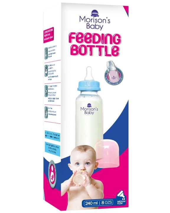 Feeding Bottle Straight Body 240ml -  Blue - Large