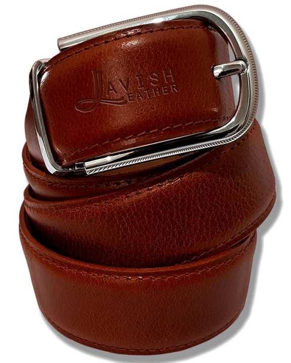 Mens Luxury Tan Leather Belt