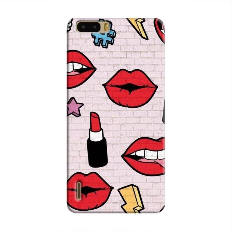 LipstickStickersWall Hard Case For Huawei Honor 6