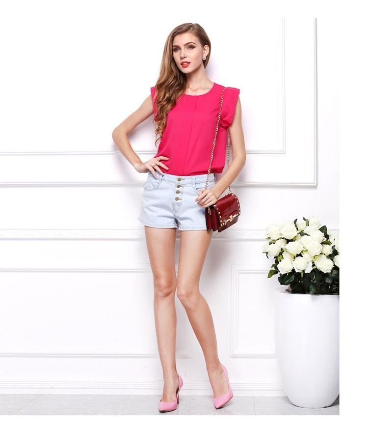 Women's Chiffon Blouse - Pink
