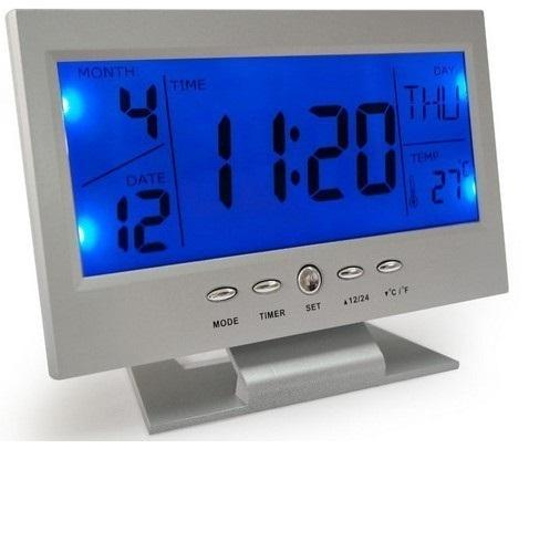 LCD Alarm Clock with Voice Control
