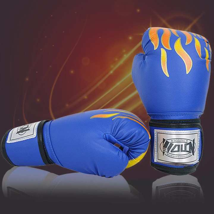 Boxing Gloves Children Sanda Gloves Professional Competition Muay Thai Fight Training Sandbags Fighting Gloves Red