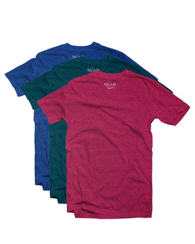 Bear Appeal V-Neck T-shirts - 3 Pack - Carmine