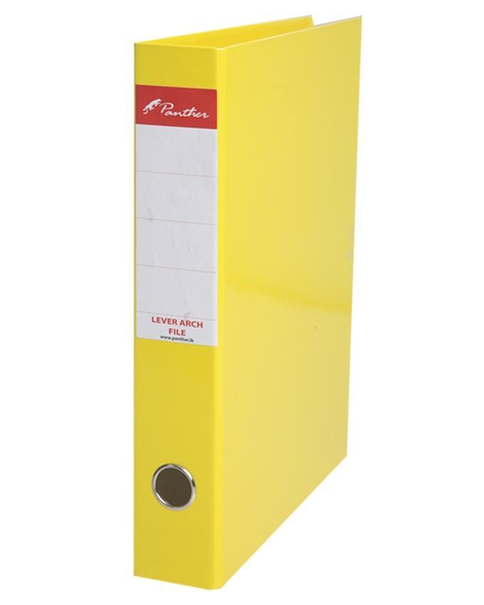 Box Files 50mm  Laminated F4 - Yellow