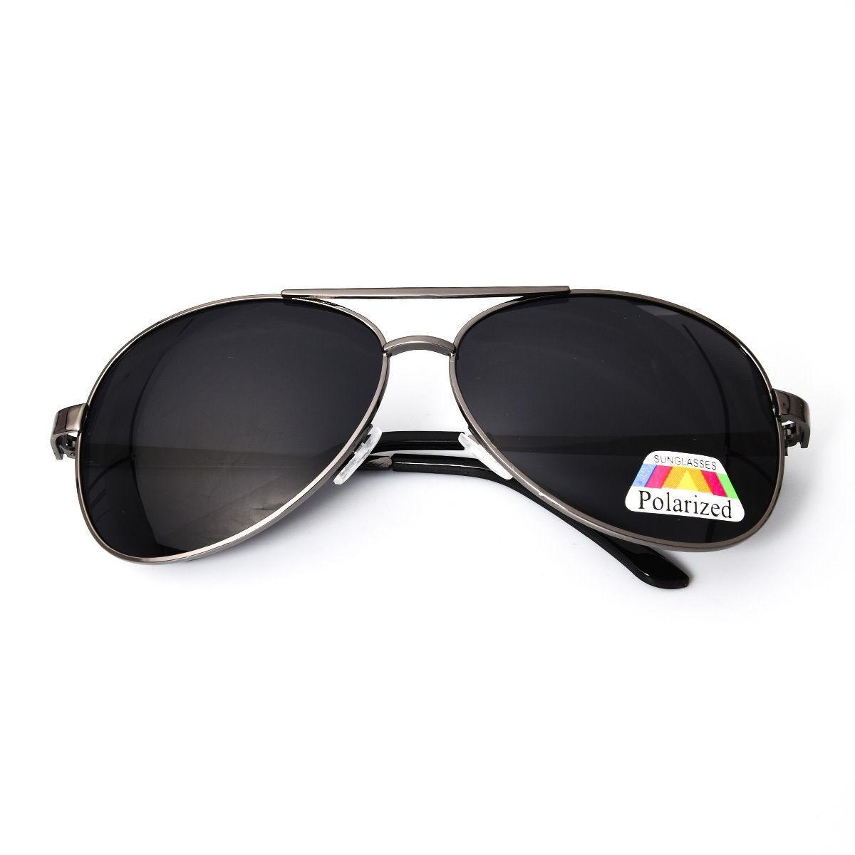 Men's Black Polarized Sunglass