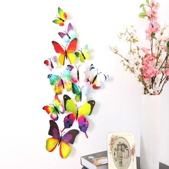 Multi Color Wall Stickers -12pcs