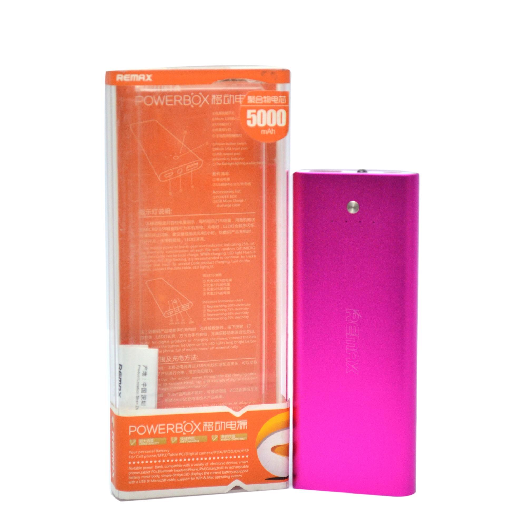 Remax 5000MAh Power Bank - Purple