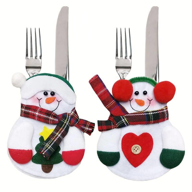 Snowman Cutlery Bags Pack Of 4