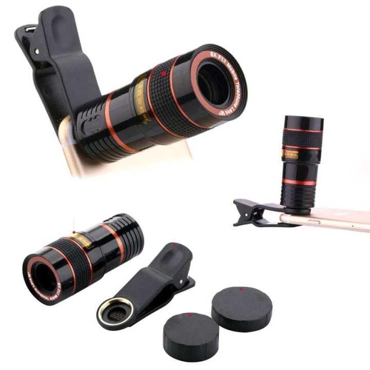 8X Zoom Camera Telescope Lens Phone Clip