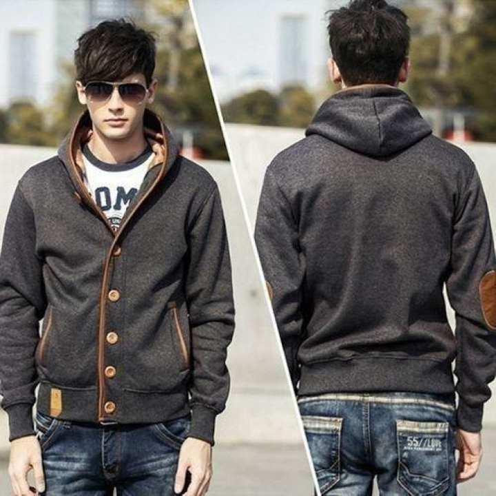 Autumn Fashion Men's Fleece Hooded Coat Outdoor Hooded Sweater Jacket Coats - White