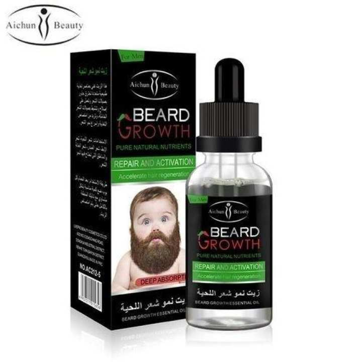 Beard Growth Essential Oil Pure Natural Nutrients Skin Cleansing Vitamins