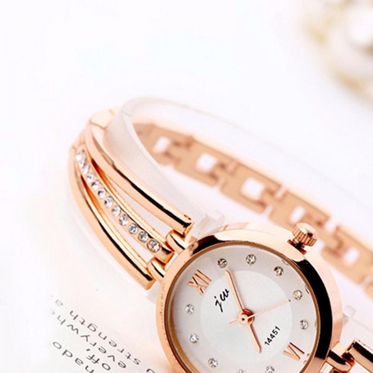 Ladies Stainless Steel Bracelet Watches Women Fashion Diamond Dial Quartz Analog Watch Female Clock Silver