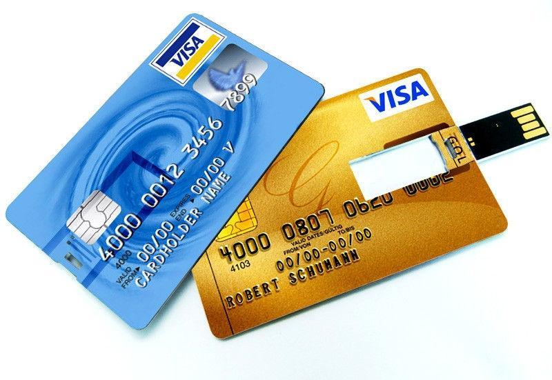 Credit Card Shaped 8 GB USB Flash Drive