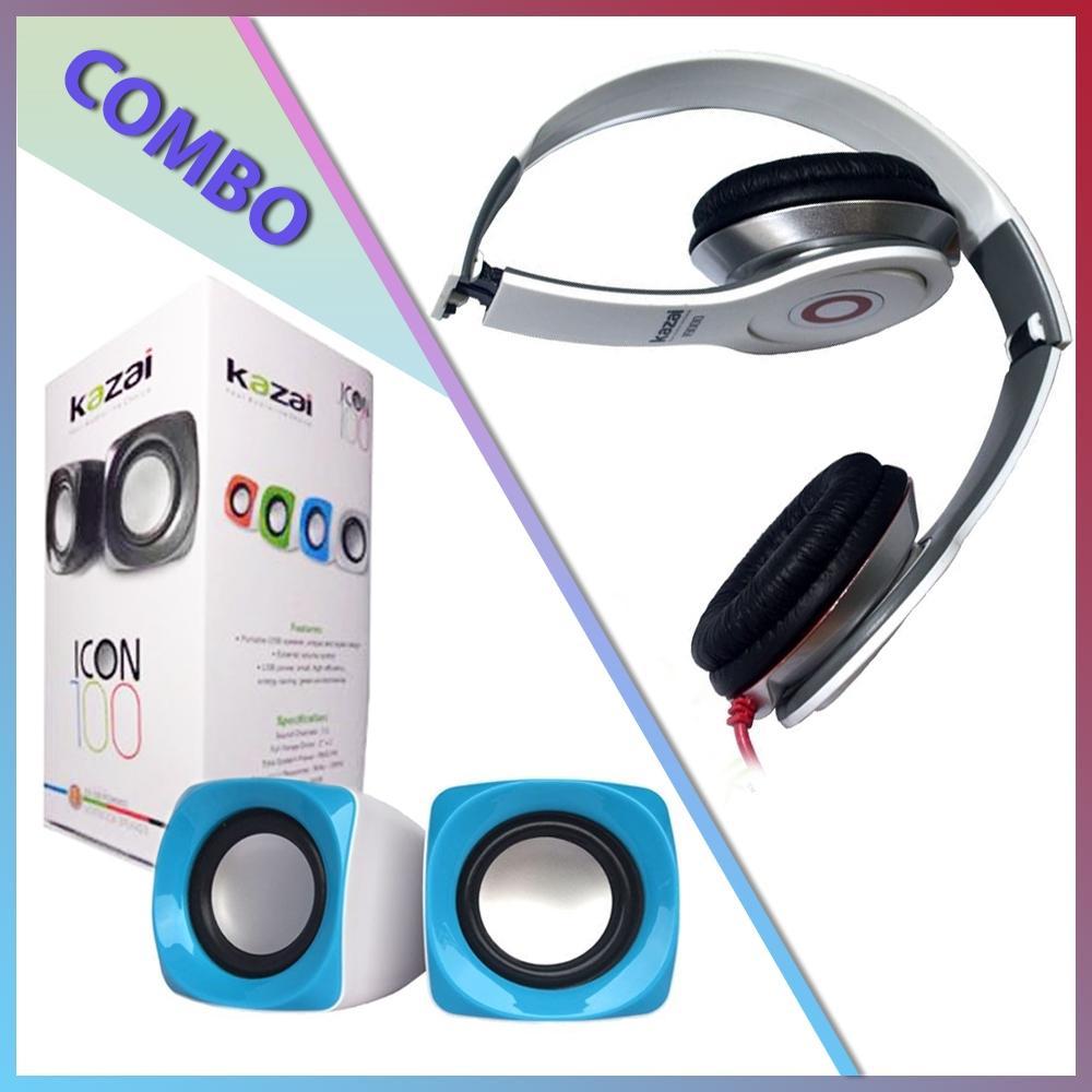 Combo Of Icon100 Speaker + Kazai i9000 Headphone
