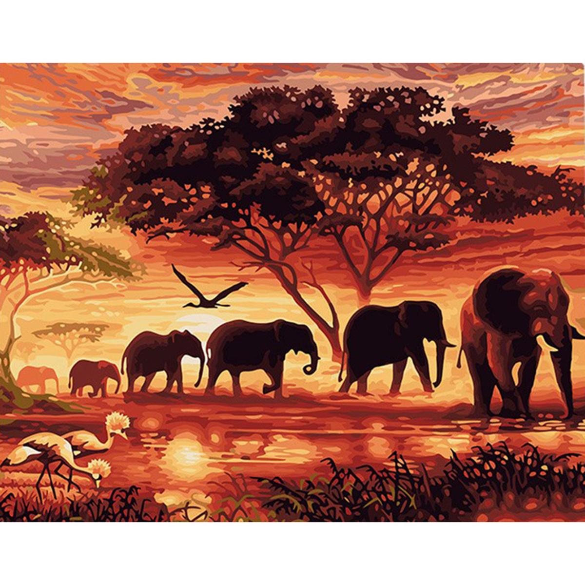 GX5189 40 X 50cm Framless Animals Picture Painting By Numbers DIY Coloring Wall Art