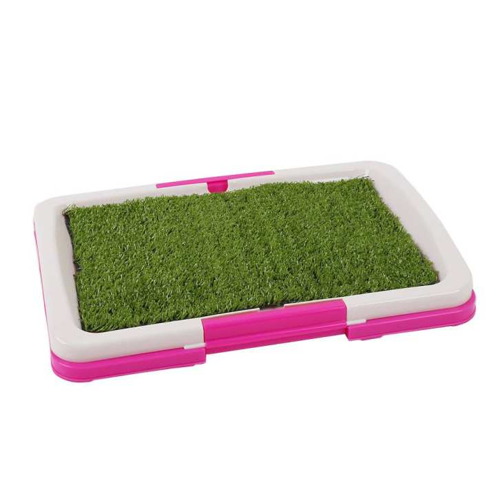 Pet Puppy Toilet Urinary Trainer Grass Mat Potty Pad Indoor House Litter Tray