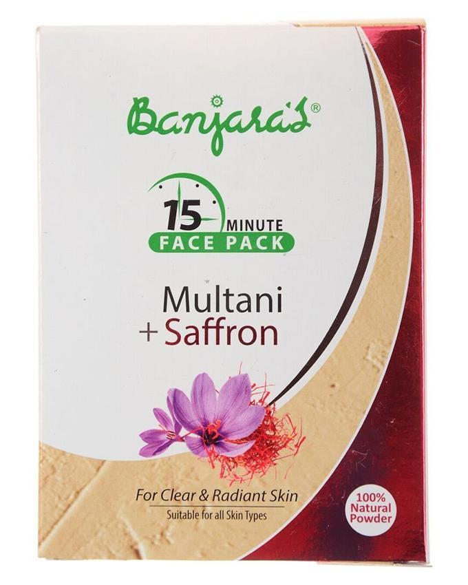 Face Mask Multani Mitti And Saffron 5x20g