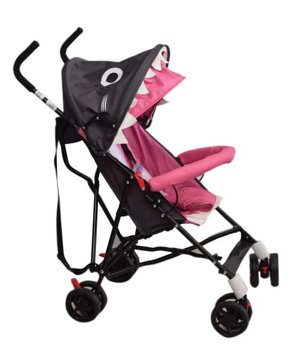 Comfort Baby Stroller - Black And Pink