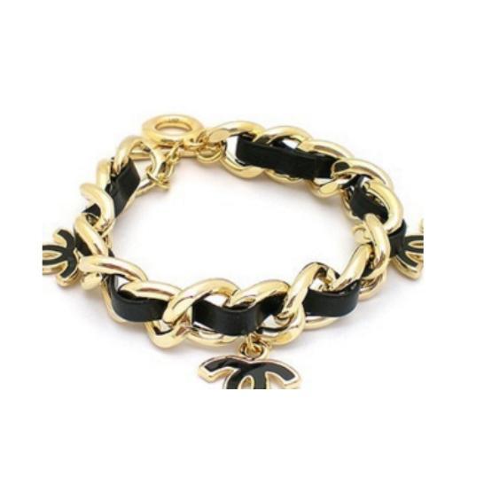 Women's Braided Leather Bracelet - Black