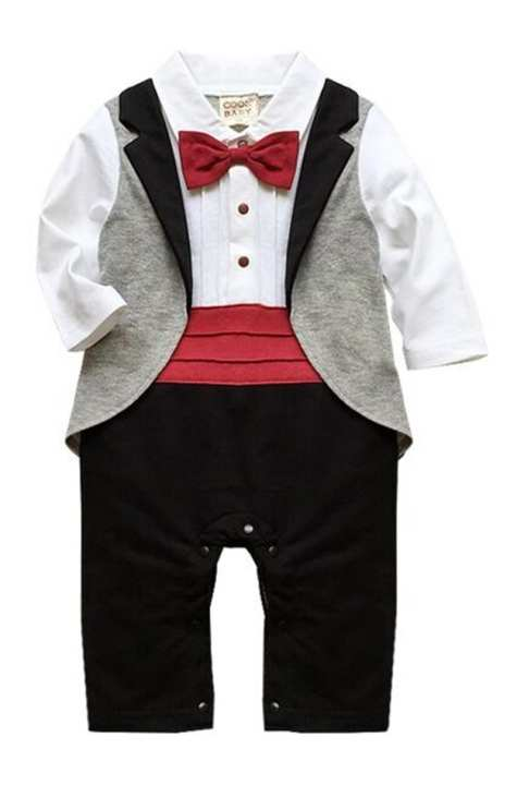 Baby Boy Rompers bithday suit grey 1 year