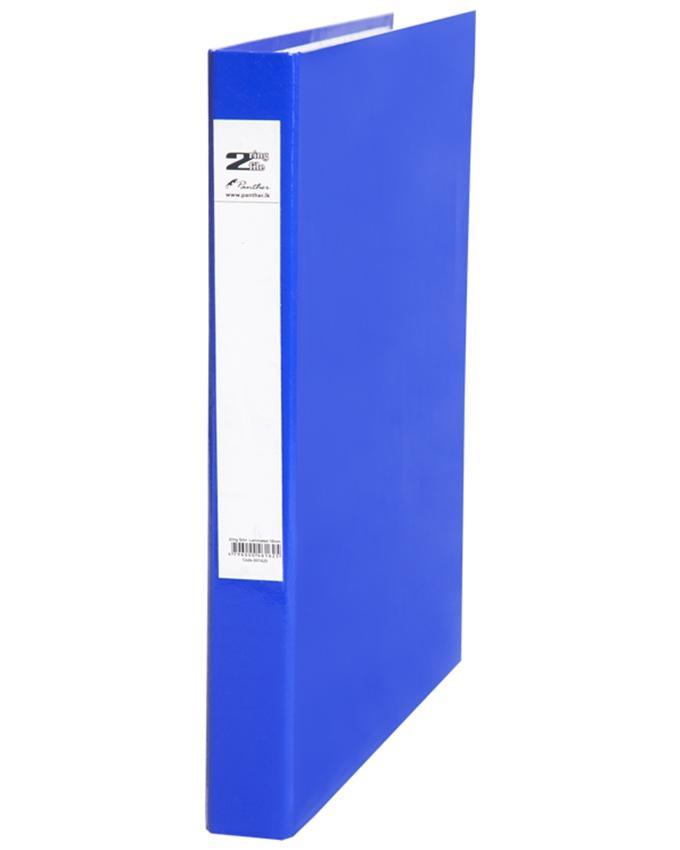 2 Ring Slim Laminated Files 16mm - Dark Blue