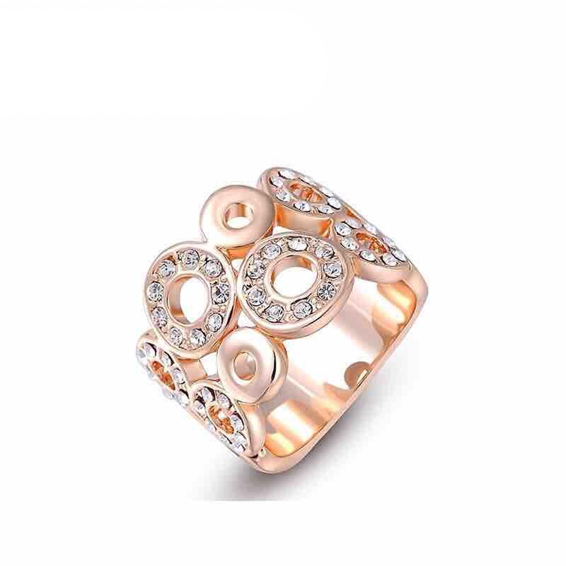 Women's Crystal Gold Plated Ring