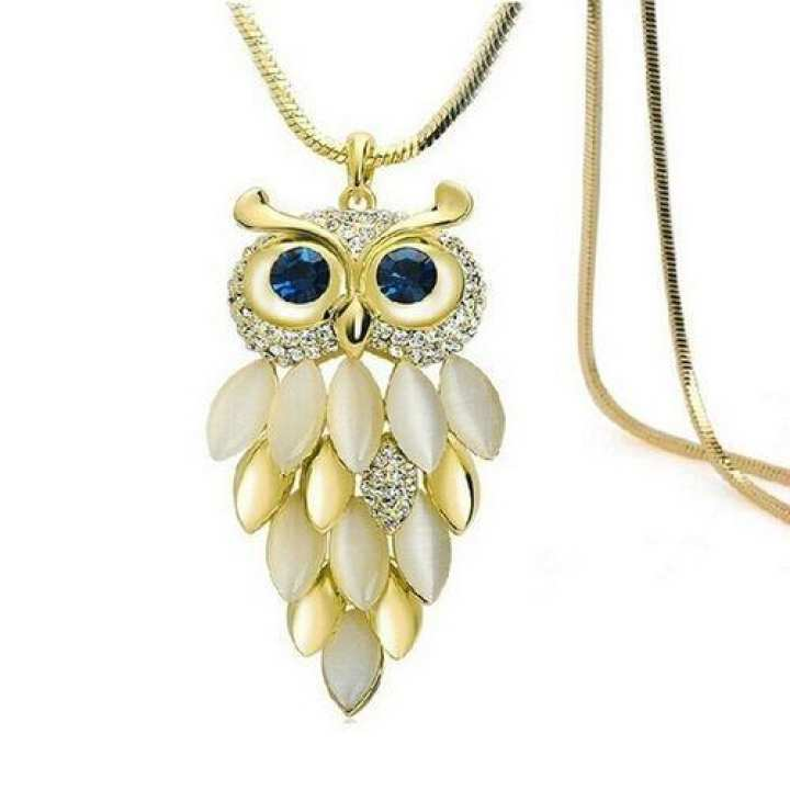 Women Owl Shaped Alloy Necklace