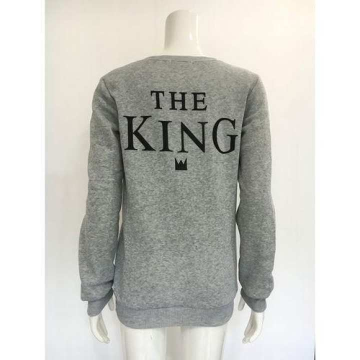 THE KING / HIS QUEEN Matching Couple's Long Sleeves Sweater