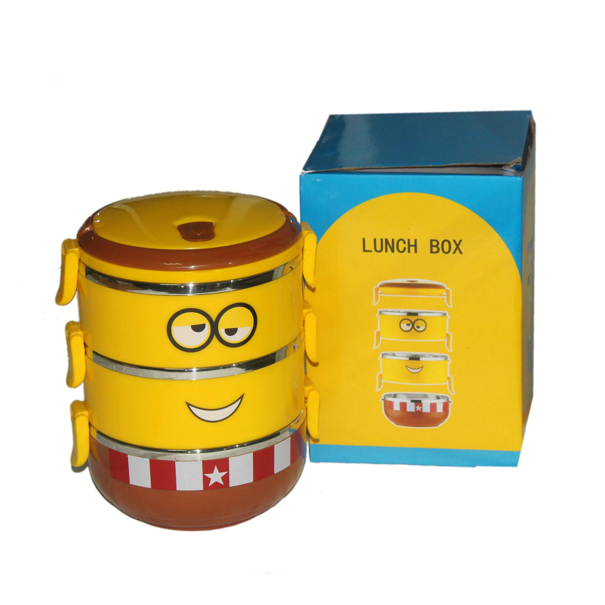 Minion Stainless Steel Lunch Box 2.1L - Brown