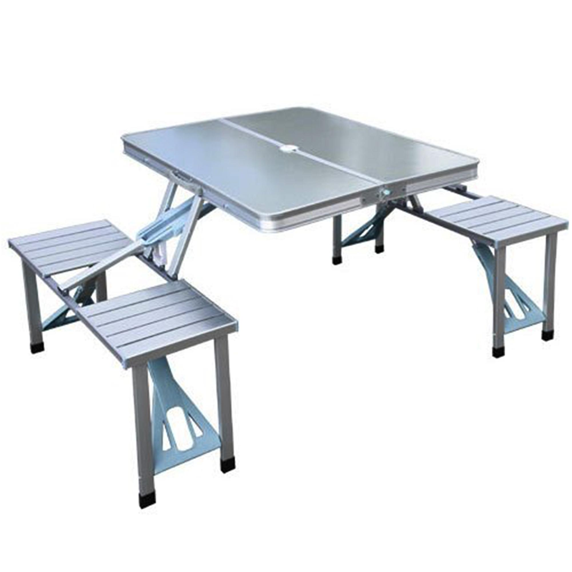 Outdoor Aluminum Portable Folding Camp Suitcase Foldable Picnic Table