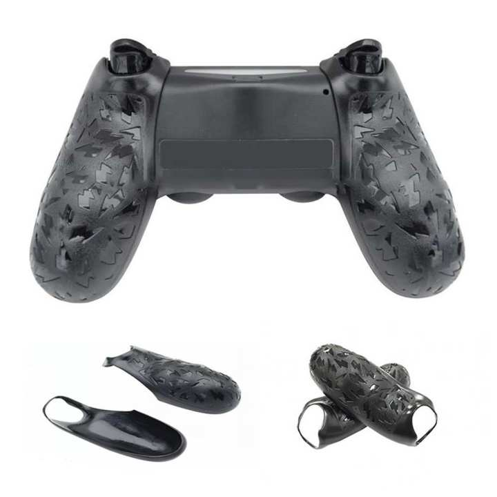Durable Non-Slip Game Controller Handle Grip Back Cover Shell For PS4, PS4 Slim (2 PCS) Black
