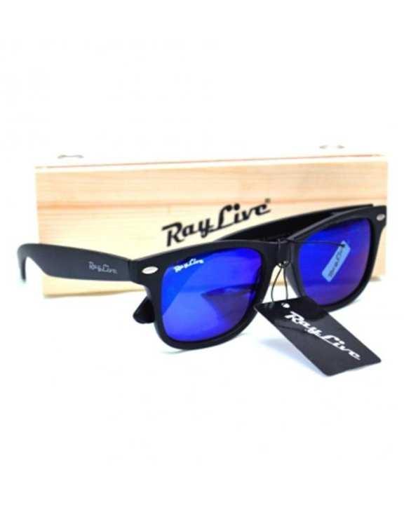 Authentic Retro Square Shade Sunglasses - Black