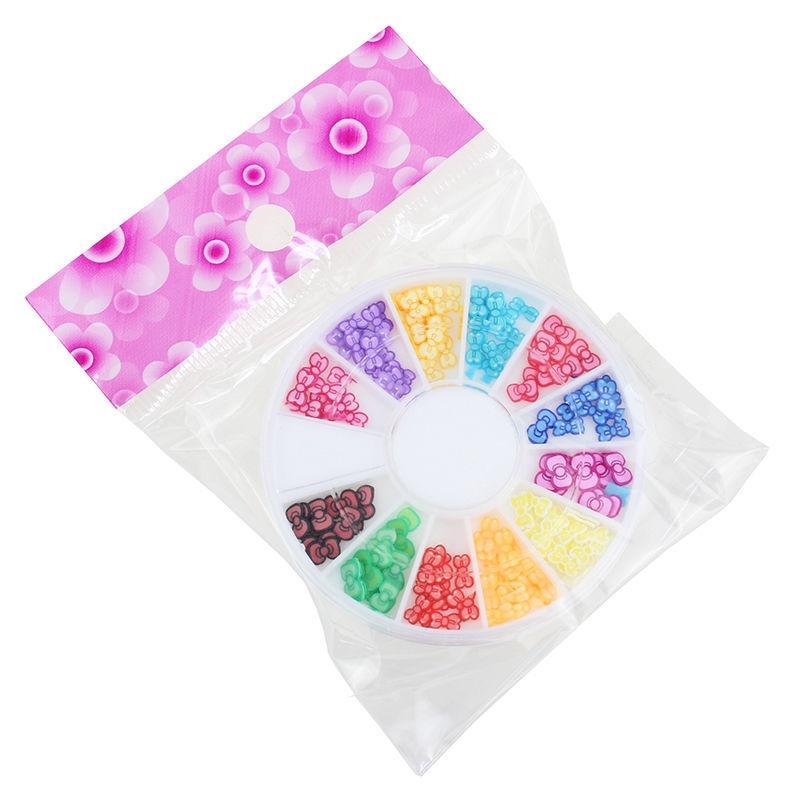 Wheel 3D Style Acrylic Crystal Nail Art Manicure