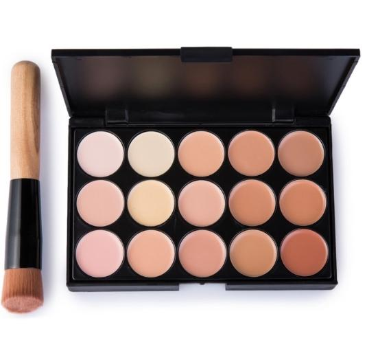 15 Color Eye Shadow Makeup Set with Brush
