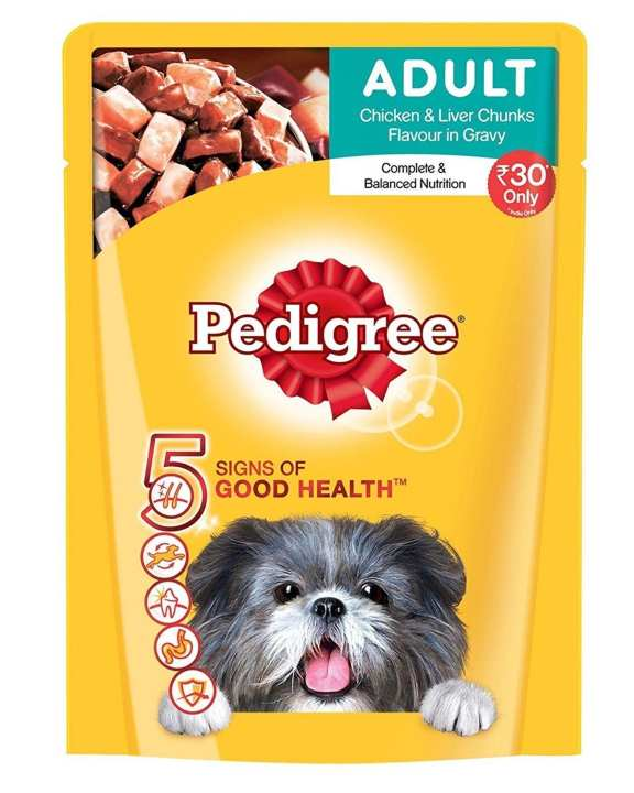 PEDIGREE Chicken & Liver Cis Pouch - 80g