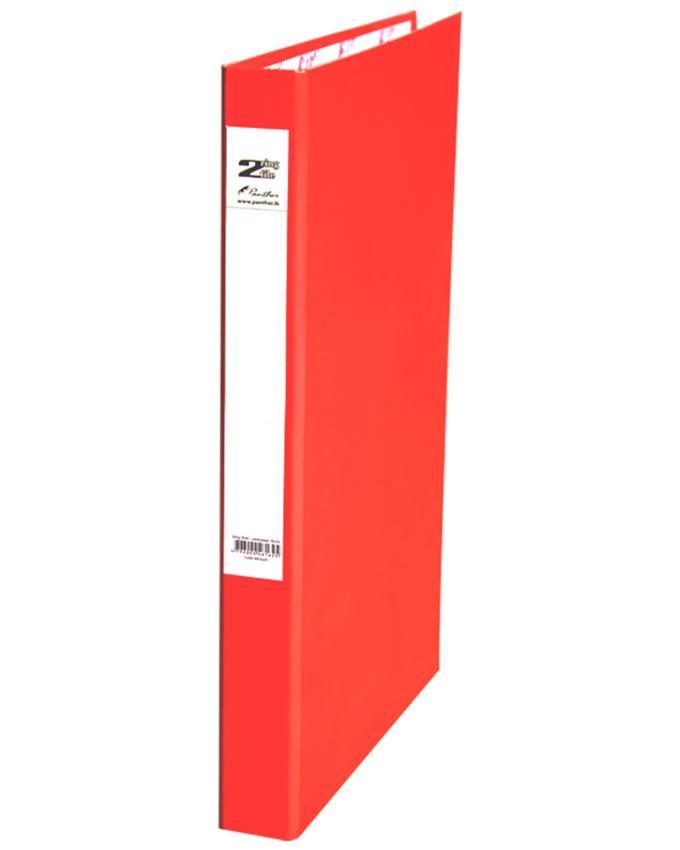 2 Ring Slim Laminated Files 16mm - Red